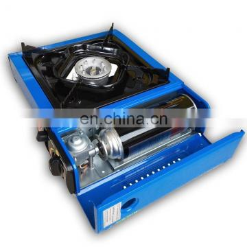 camping portable biogas stove with gas cylinder